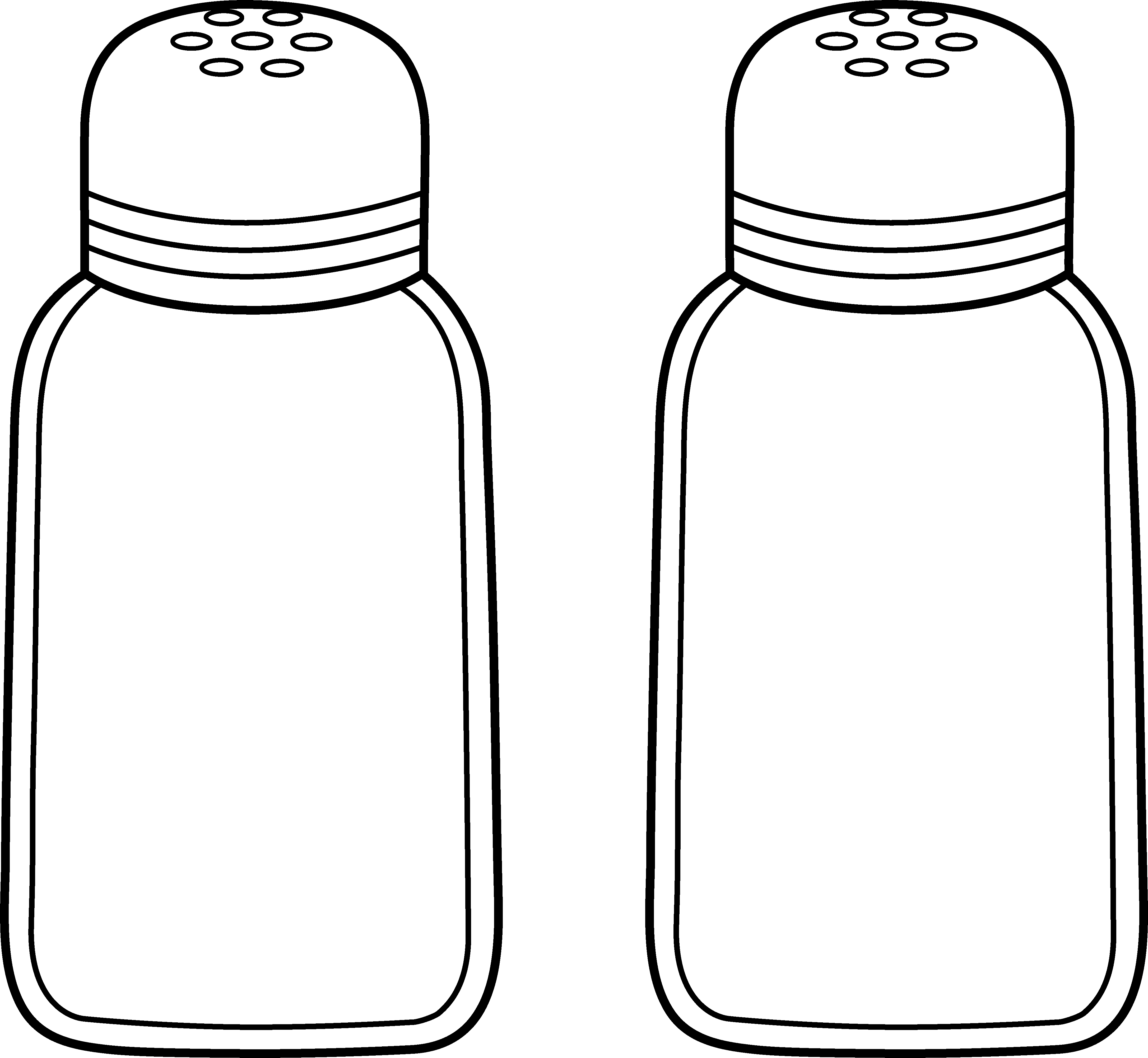 Peppers clipart drawing. Salt and pepper line