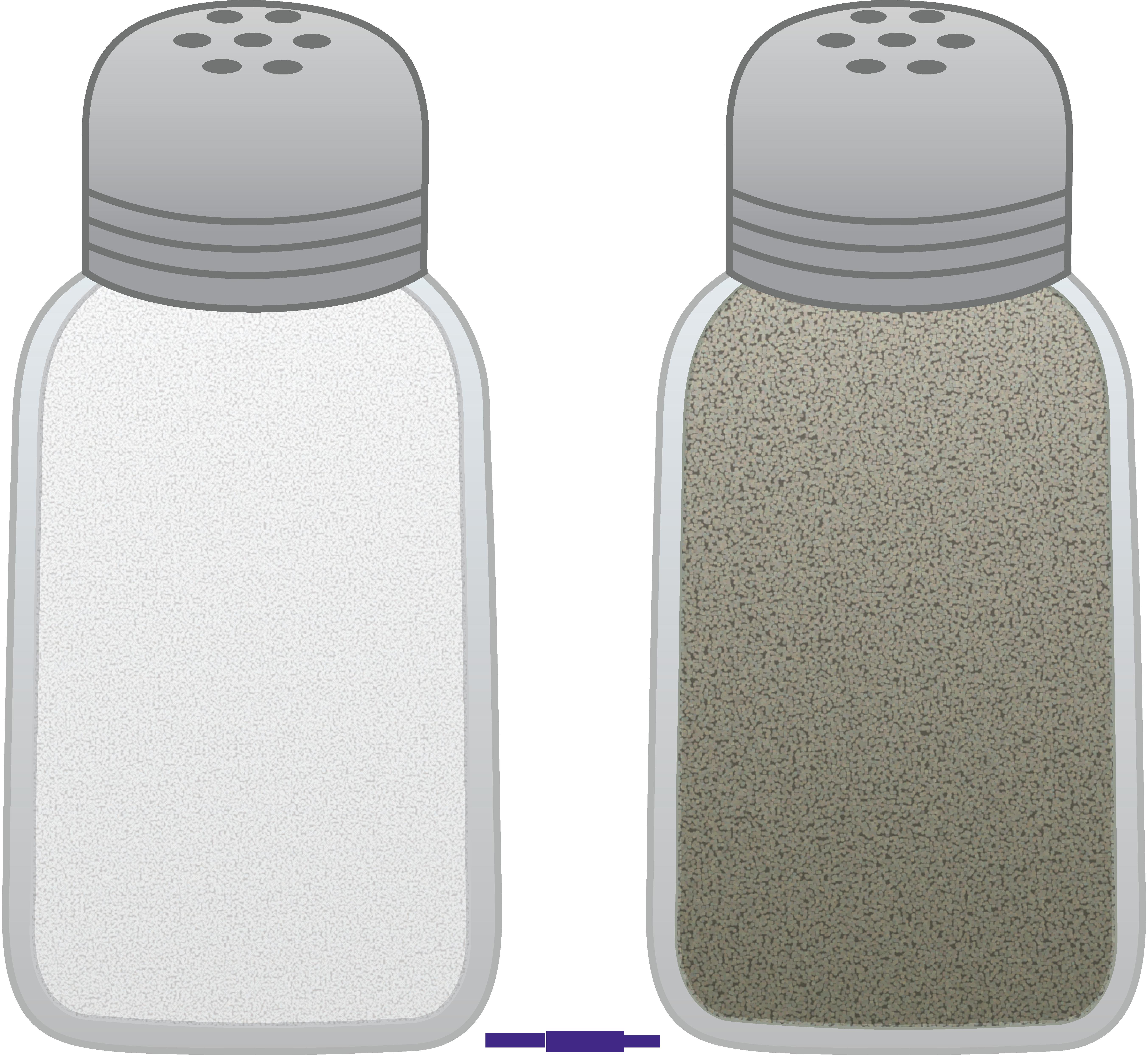Pepper clipart pepper bottle. Salt shakers sweet clip