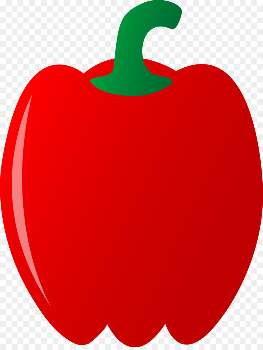 Pepper clipart red pepper. Food heart vegetable fruit