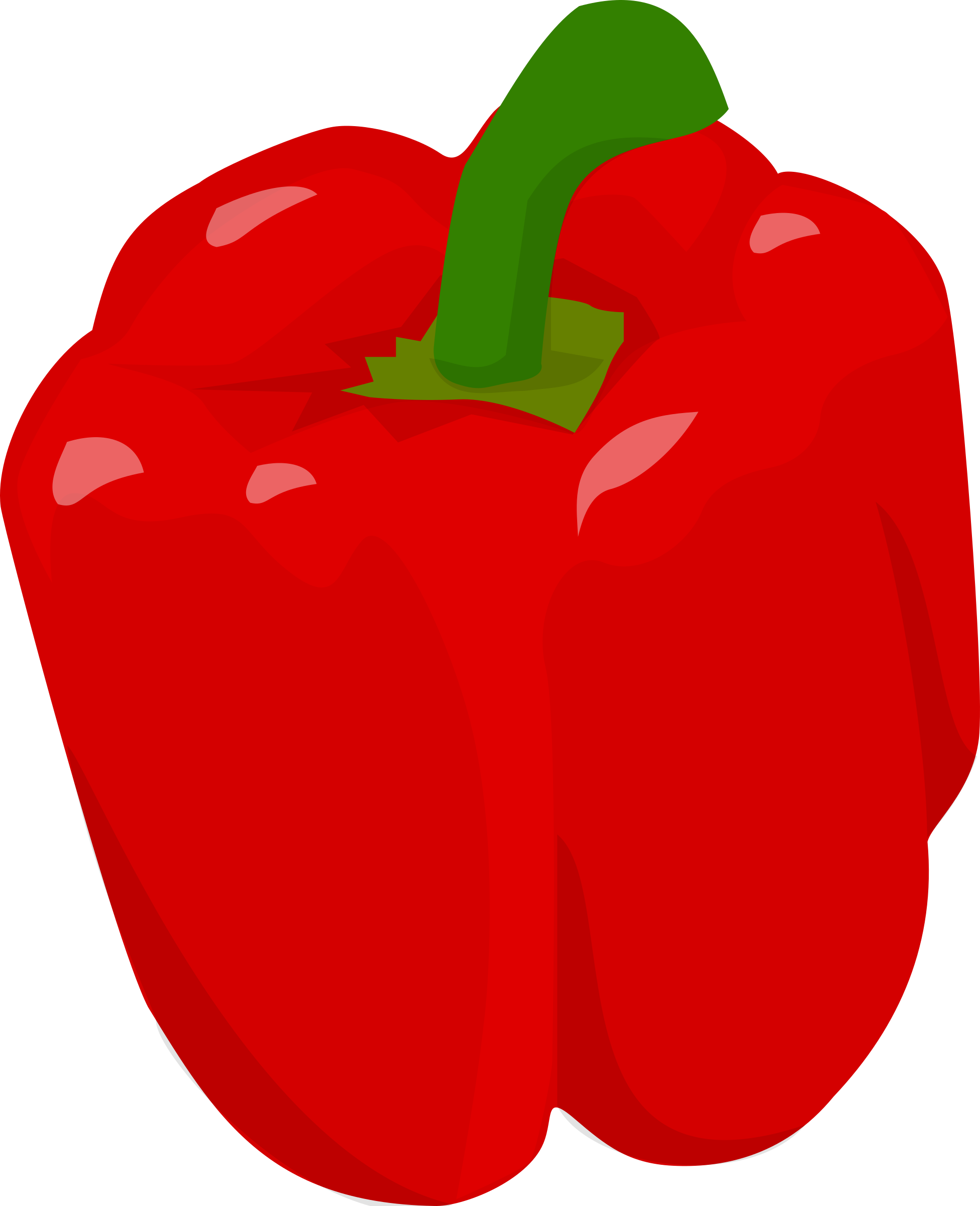 Bell pepper big image. Peppers clipart sliced