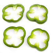 Green pepper slices clip. Peppers clipart sliced