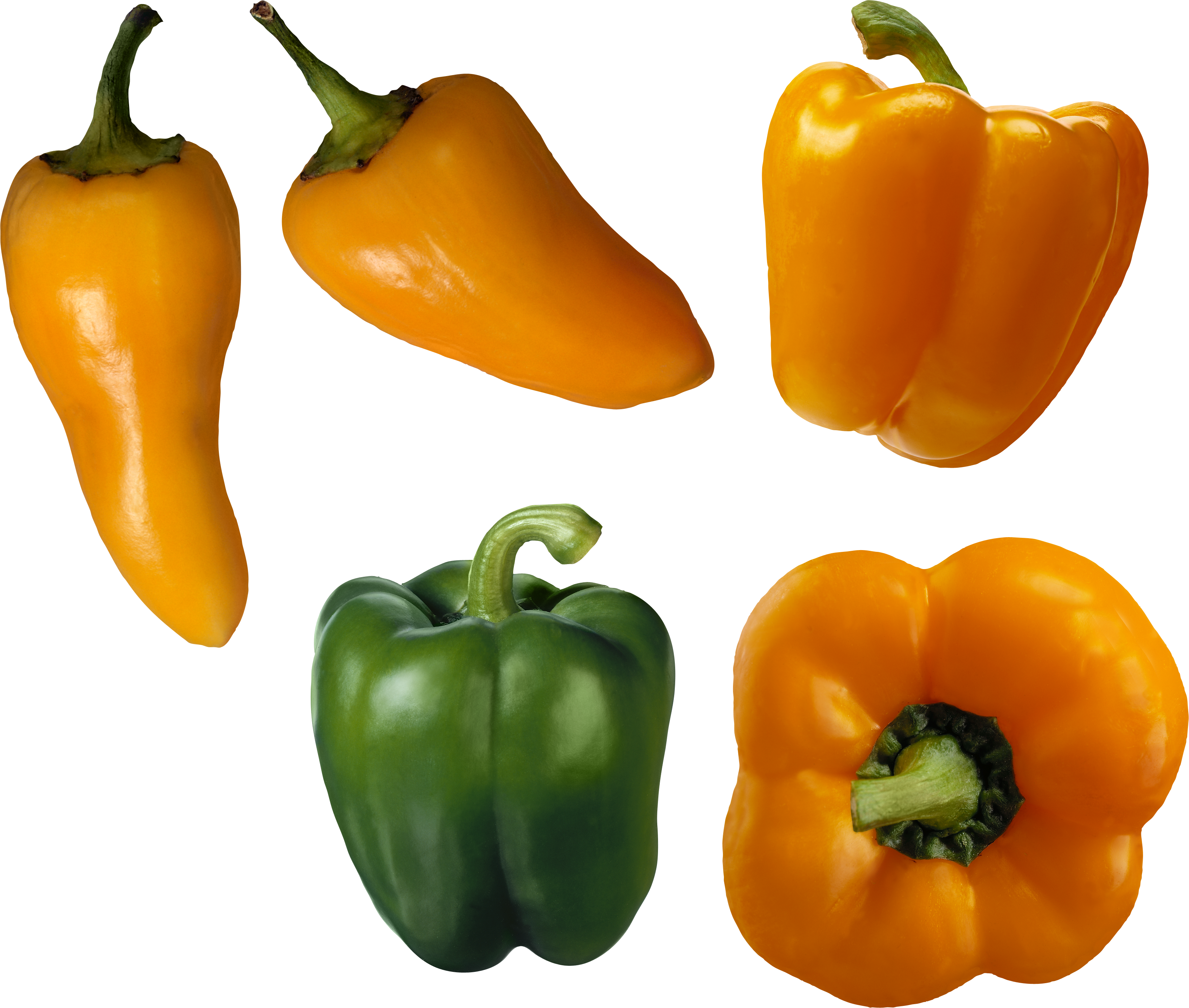Bell pepper isolated stock. Peppers clipart two