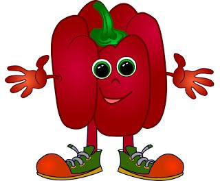 Red bell pepper clip. Peppers clipart cute