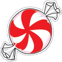 Peppermint clipart. Candy