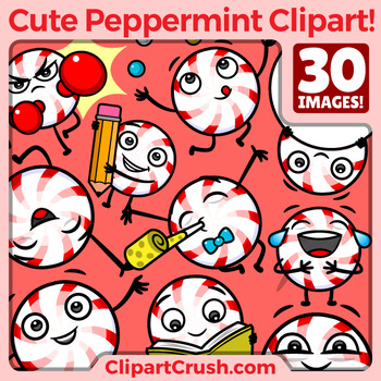 Cute cartoon set vol. Peppermint clipart
