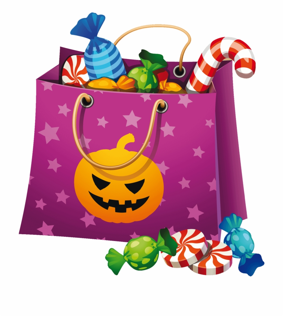 Peppermint clipart halloween. Png candy bag clip