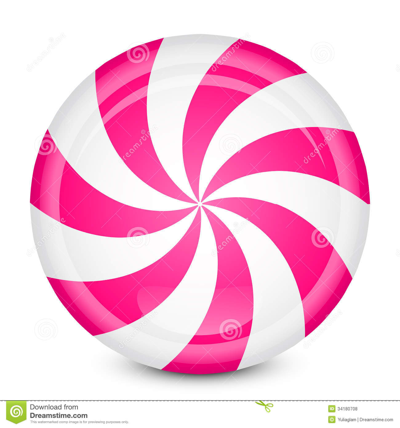 Peppermint clipart real candy. Pink