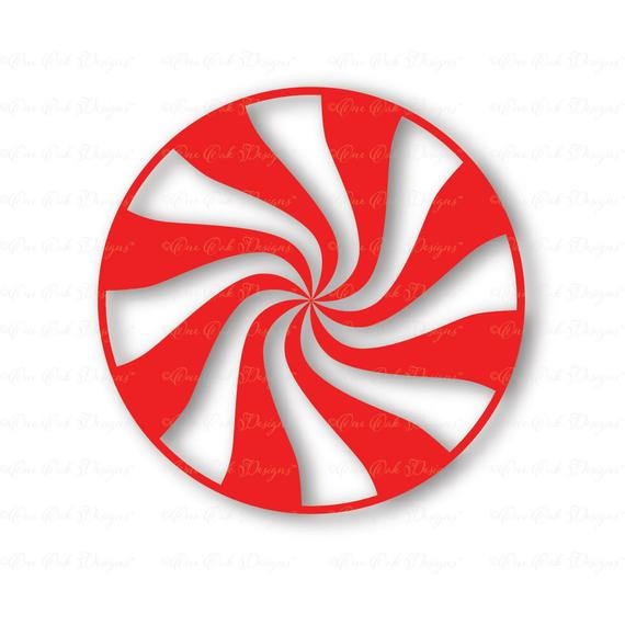 Peppermint clipart svg. Swirl christmas candy dxf