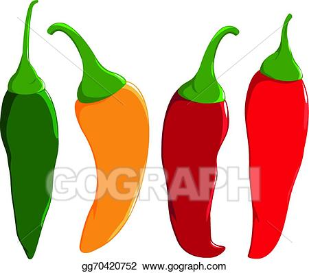Vector stock fresh colorful. Peppers clipart cayenne pepper