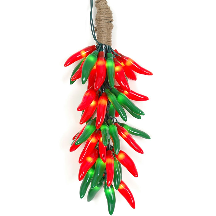 Red and green chili. Peppers clipart christmas