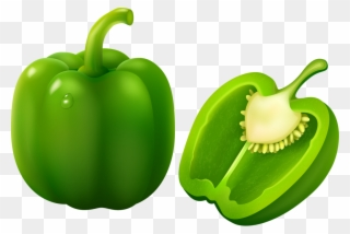 Natural foods bell pimiento. Peppers clipart green pepper