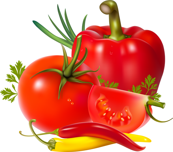 Tomatoes clipart tomato seed. And peppers health wellness