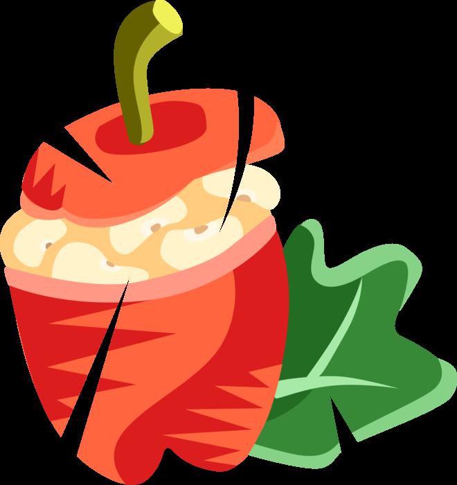 Cuisine stuffed vector image. Peppers clipart pepper spanish