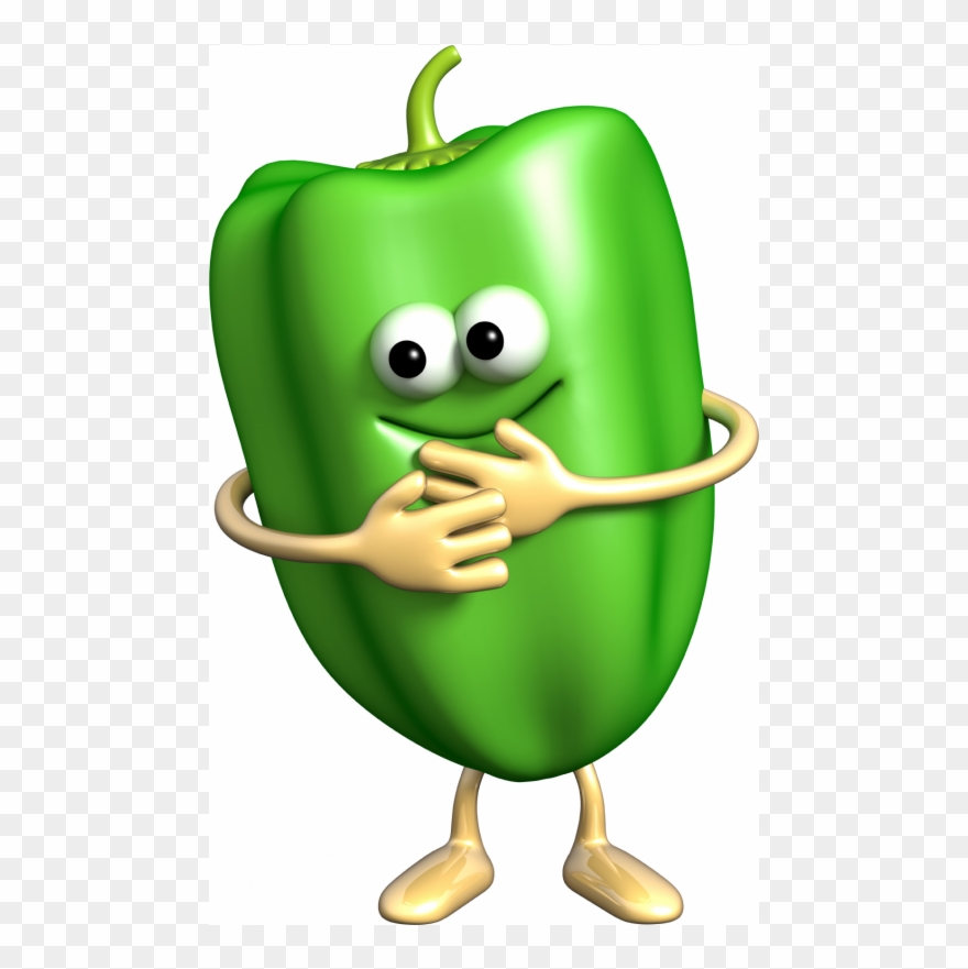 Peppers clipart single vegetable. Funny stickers fruits and