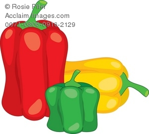 Illustration of bell . Peppers clipart three