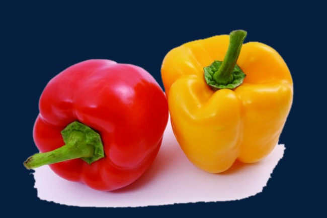 Fruits and vegetables plant. Peppers clipart two