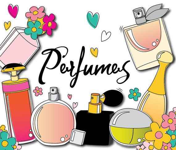 Doodle valentine beauty off. Perfume clipart