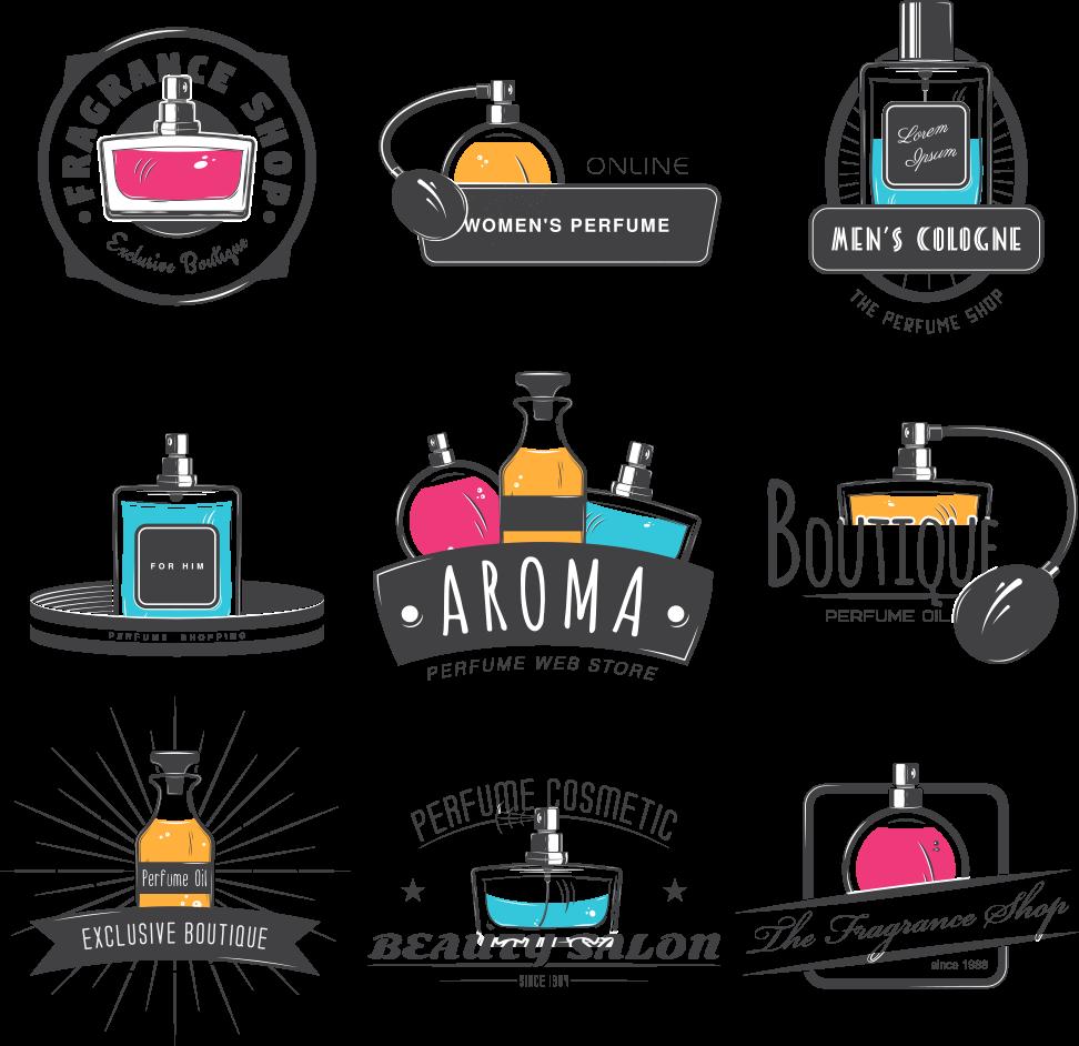 Logo stock photography compound. Perfume clipart aroma