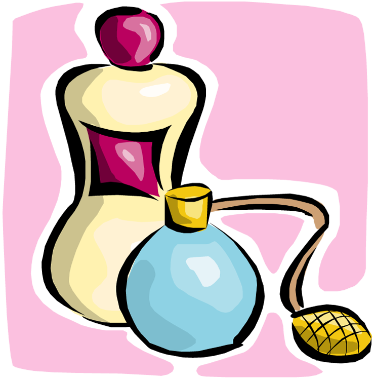 collection of putting. Perfume clipart coloring