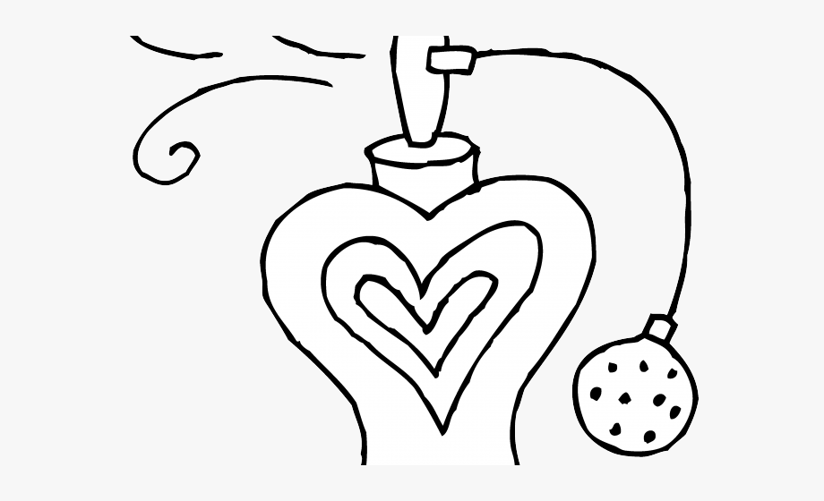 Perfume clipart coloring. Cute cartoon bottle pages