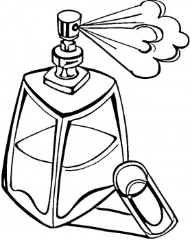 Perfume clipart coloring. Bottle page at getdrawings