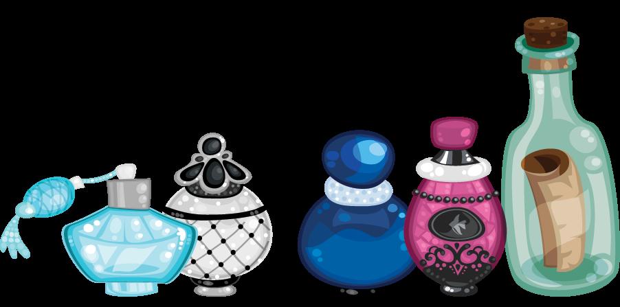 Perfume cosmetic bottle