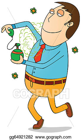 Perfume clipart man clipart. Vector art good smelling