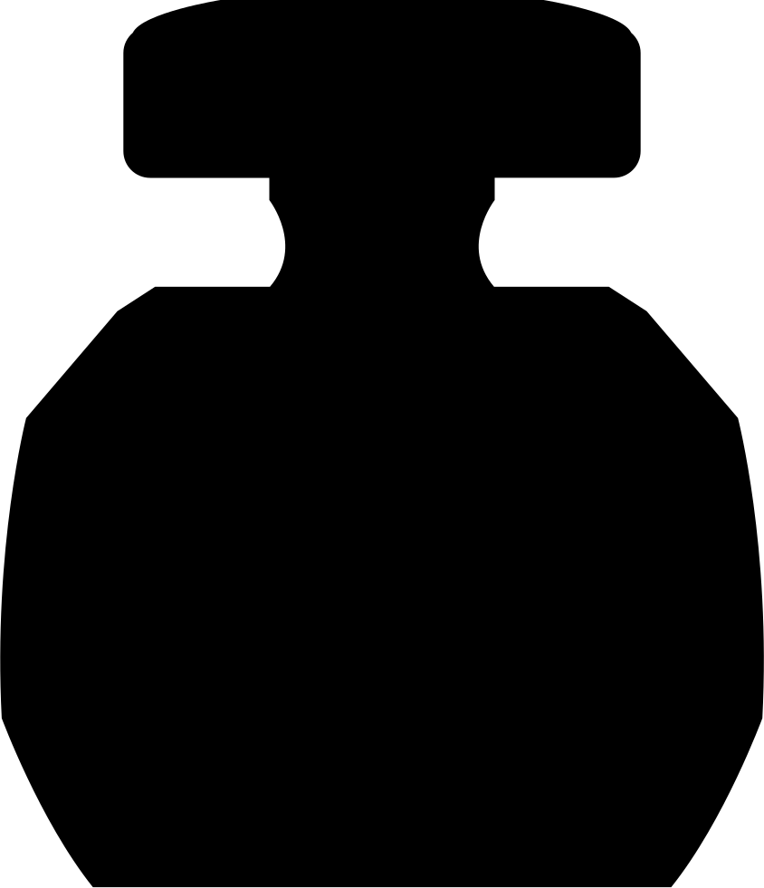Circular with rectangular cover. Perfume clipart perfume bottle