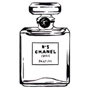 In art . Perfume clipart perfume chanel