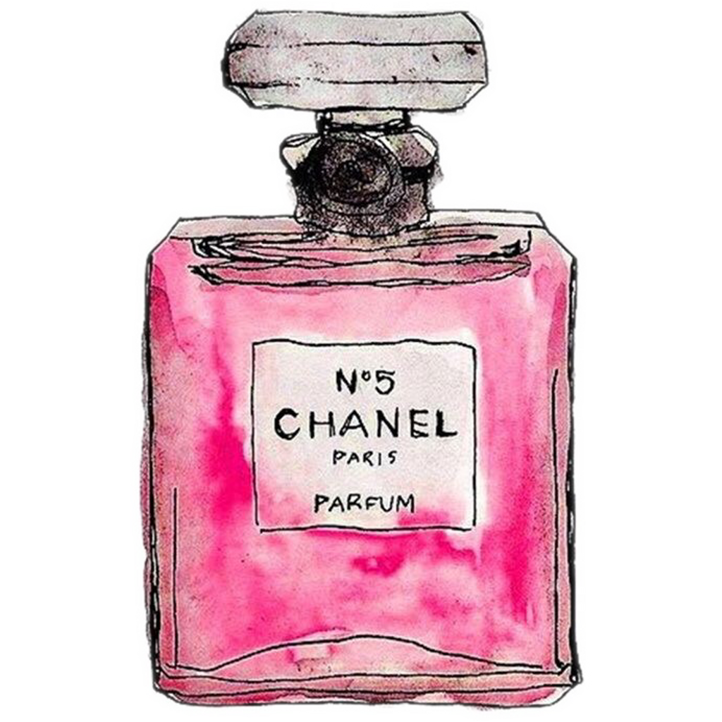 Perfume clipart perfume chanel. Overlays cute pastel pink