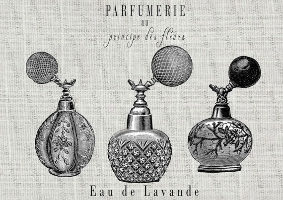 Perfume clipart perfume french. Vintage bottles labels for