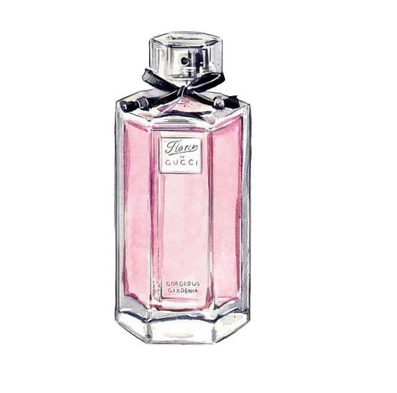 Perfume clipart watercolor. Chanel gucci painting sketch