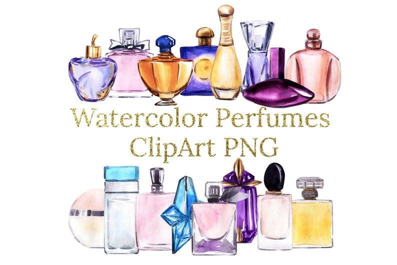 Perfume clipart watercolor. Perfumes png files bottles