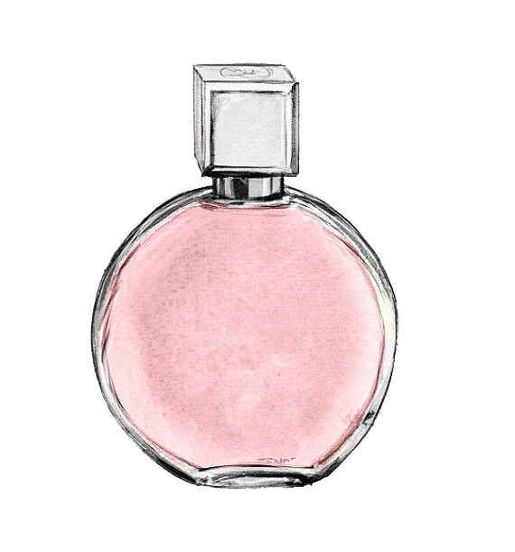 Chanel no coco clip. Perfume clipart watercolor
