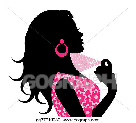 Perfume clipart woman. Drawing spraying gg