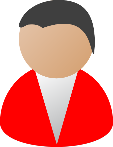 Person clipart. Business red clip art