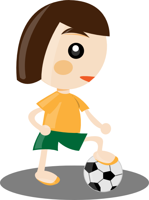 Girl i royalty free. Person clipart sport