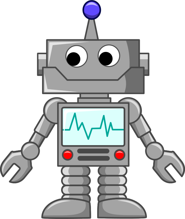 Person clipart technology. File cartoon robot svg