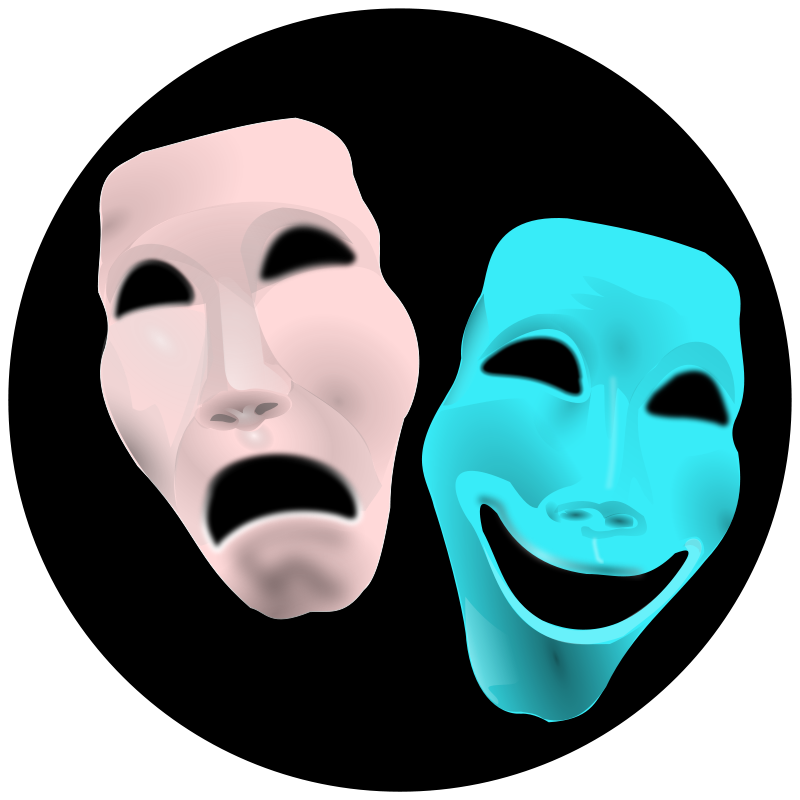 Person clipart two faced. Face clipground free theatre