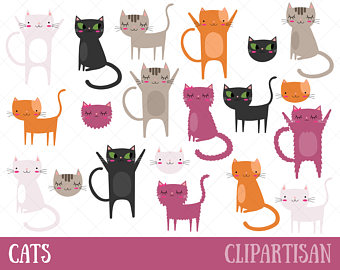 Etsy cat kitten clip. Pet clipart