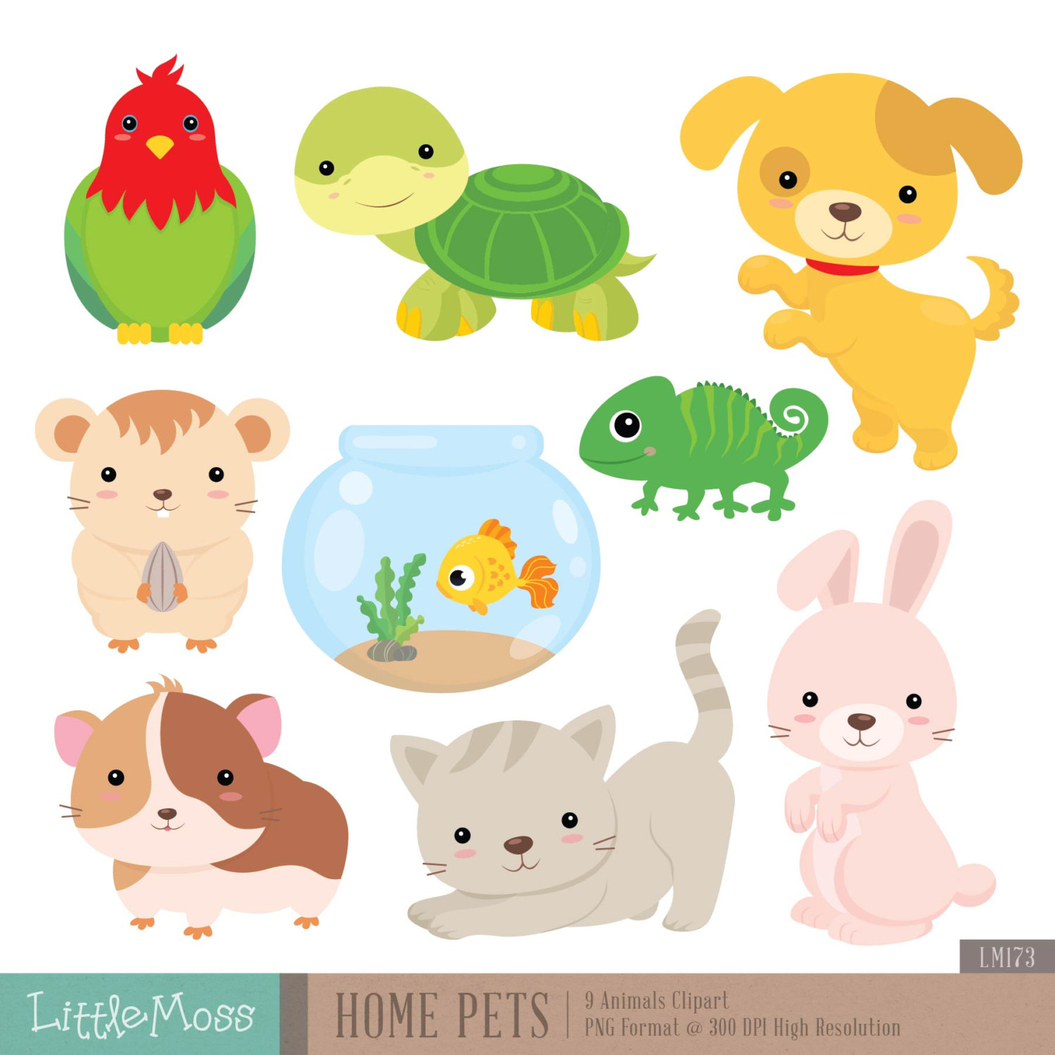 Pet clipart. Home pets digital dog