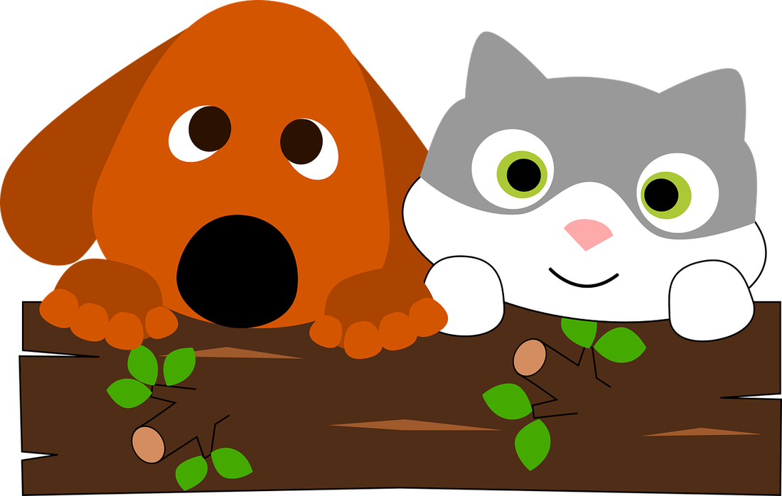 Dogs cats and wild. Pet clipart 3 animal
