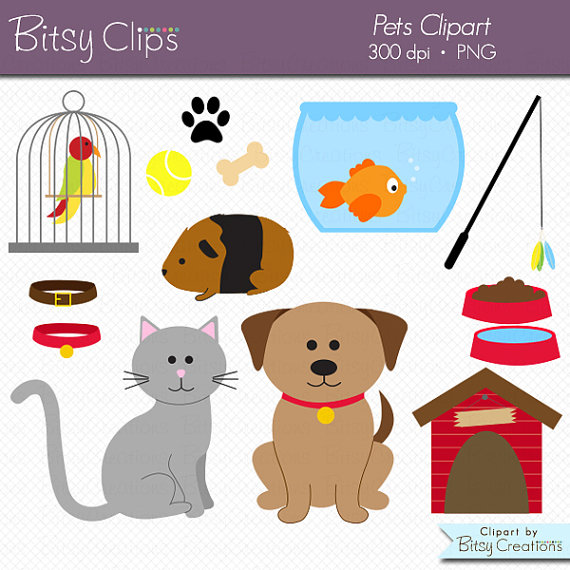 Pet clipart. Pets commercial use clip