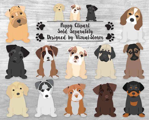 Pet clipart 5 dog. Bundle hand drawn akc