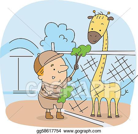 Pet clipart animal caretaker. Eps vector zoo stock