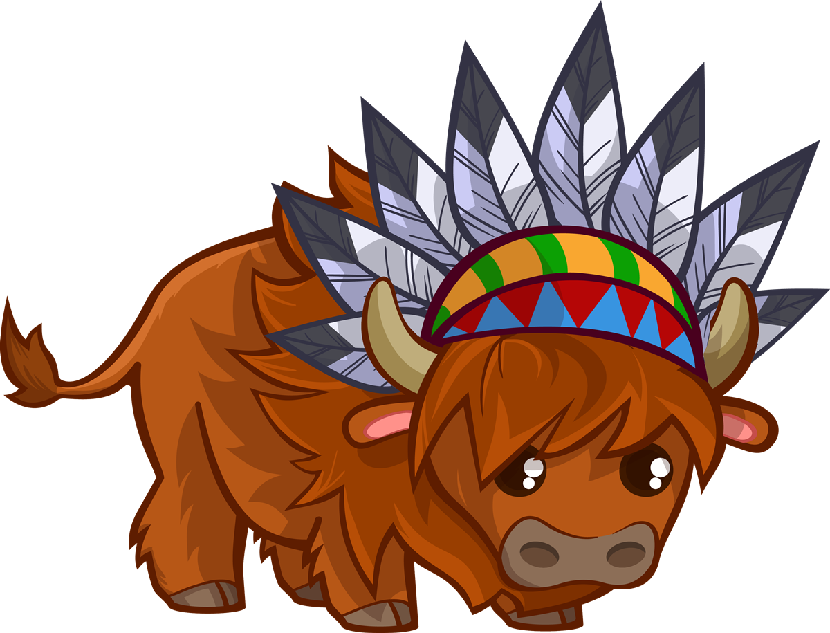 Rear animated free on. Bison clipart cartoon