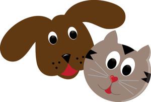 A cute and clip. Pet clipart dog cat