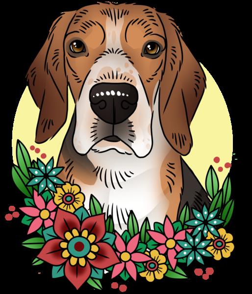Dobby digital portraits . Pet clipart doodles