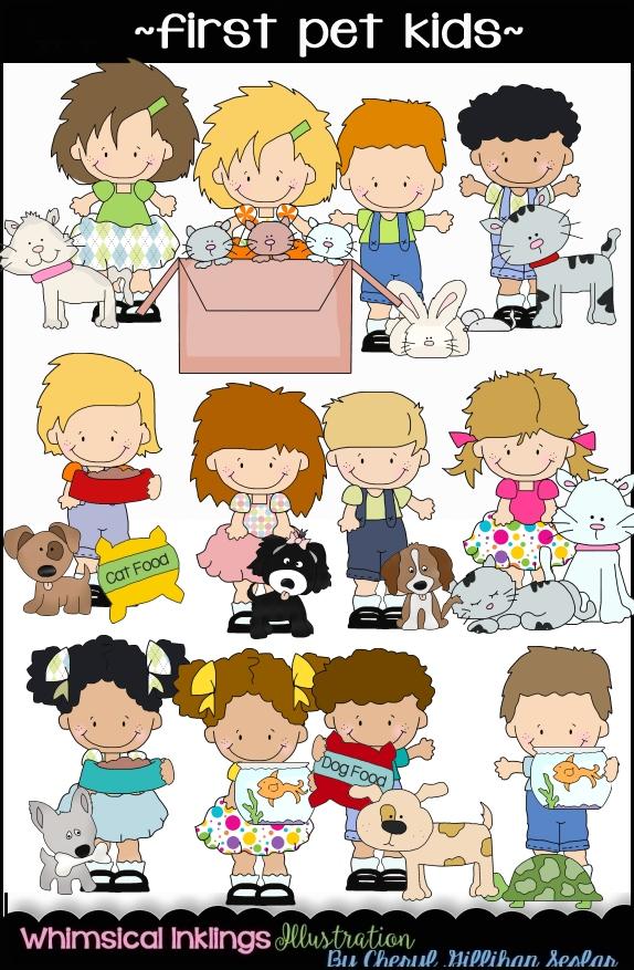 Pet clipart first. Kids collection cheryl seslar