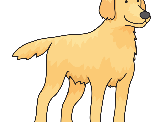 pet clipart golden retriever puppy #136835485